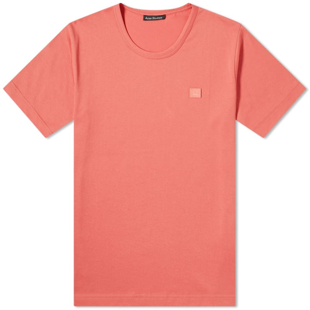 アクネ ストゥディオズ Acne Studios メンズ Tシャツ トップス【Nash Tee】Pale Red