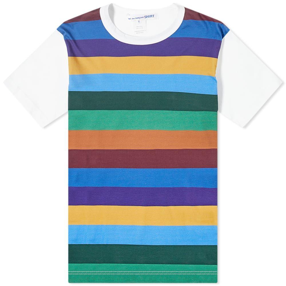 コム デ ギャルソン Comme des Garcons SHIRT メンズ Tシャツ トップス【Stripe Tee】White Mix 3