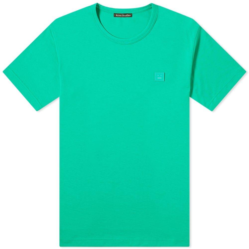 アクネ ストゥディオズ Acne Studios メンズ Tシャツ トップス【Nash Face Tee】Emerald Green