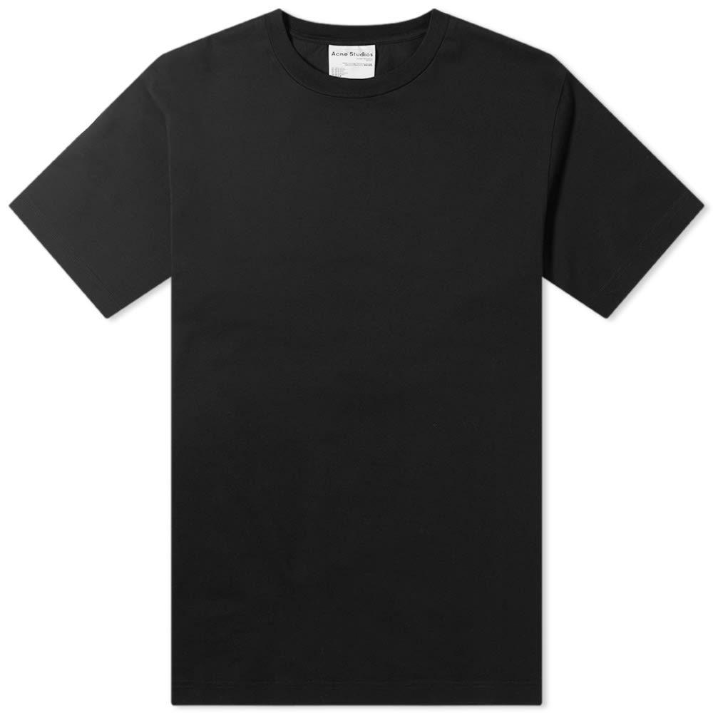 アクネ ストゥディオズ Acne Studios メンズ Tシャツ トップス【Everest Pink Label Tee】Black