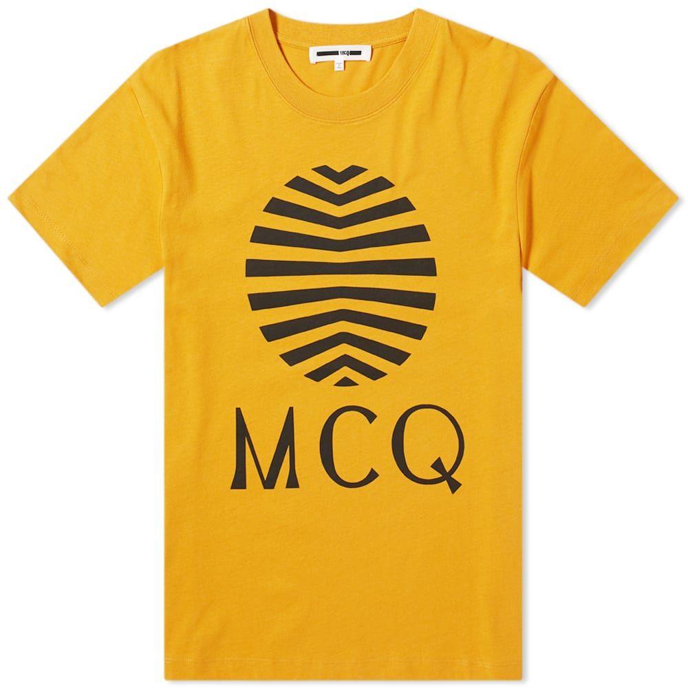 アレキサンダー マックイーン McQ Alexander McQueen メンズ Tシャツ ロゴTシャツ トップス【Sun Logo Tee】Ochre