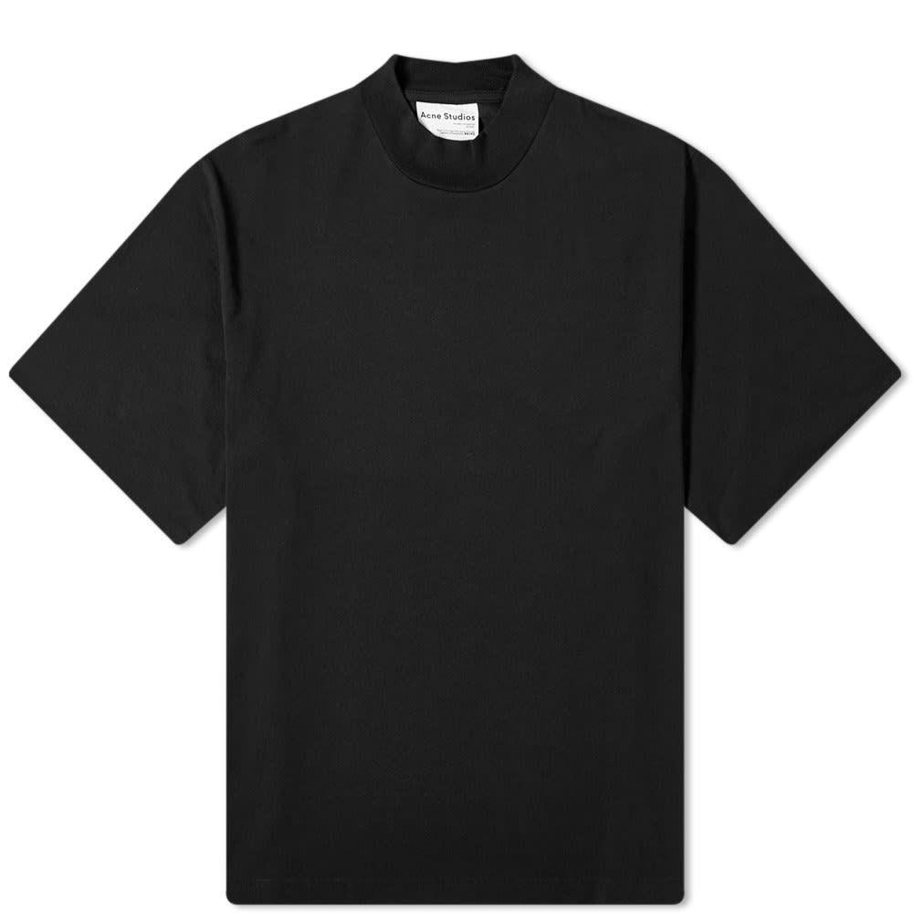 アクネ ストゥディオズ Acne Studios メンズ Tシャツ トップス【Esco Pink Label Mock Neck Tee】Black