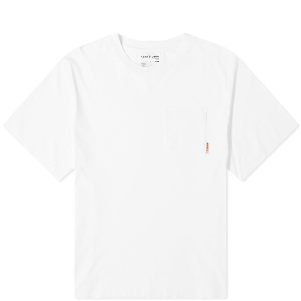 アクネ ストゥディオズ Acne Studios メンズ Tシャツ ポケット トップス【Extorr Pink Label Pocket Tee】White