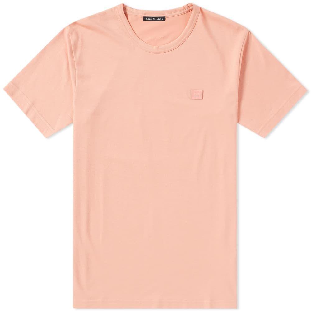 アクネ ストゥディオズ Acne Studios メンズ Tシャツ トップス【Nash Face Tee】Pale Pink