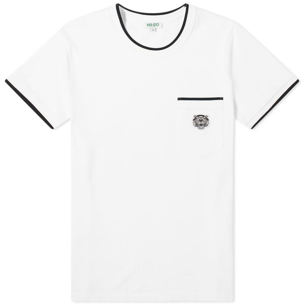 ケンゾー Kenzo メンズ Tシャツ ポケット トップス【Tiger Pocket Tee】White