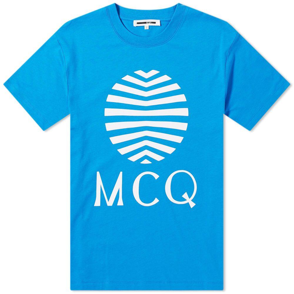 アレキサンダー マックイーン McQ Alexander McQueen メンズ Tシャツ ロゴTシャツ トップス【Sun Logo Tee】Wire Blue