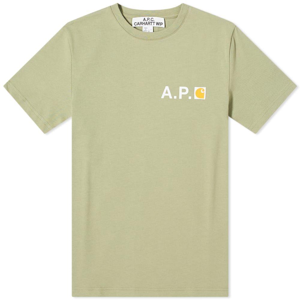 アーペーセー A.P.C. メンズ Tシャツ ロゴTシャツ トップス【x Carhartt WIP Fire Logo Tee】Khaki