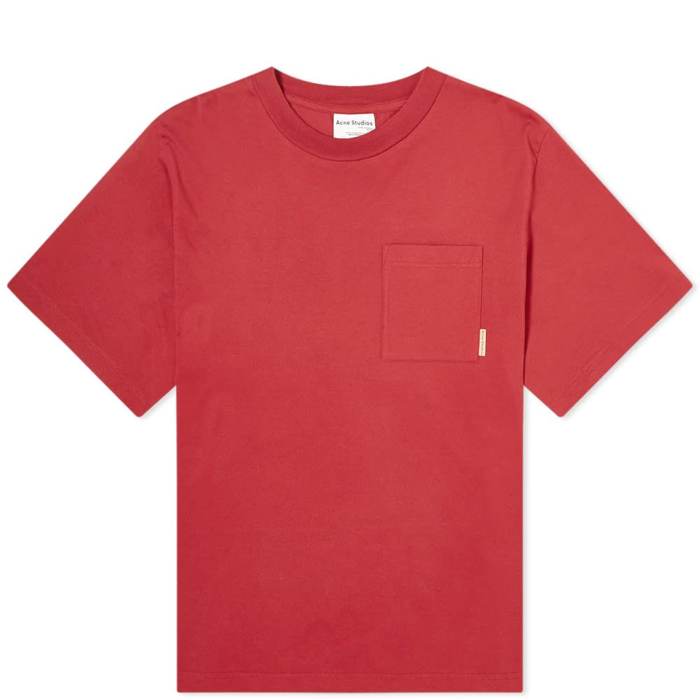 アクネ ストゥディオズ Acne Studios メンズ Tシャツ ポケット トップス【Extorr Pink Label Pocket Tee】Burgundy