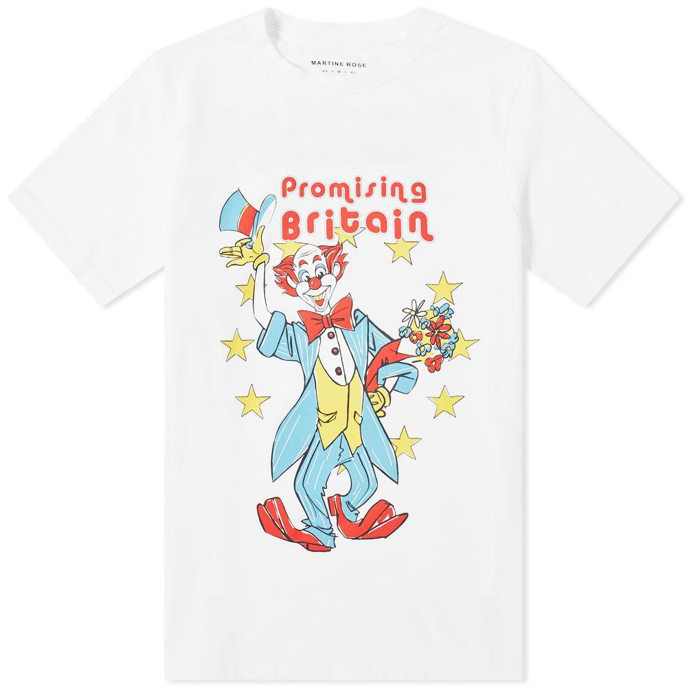 マーティン ローズ Martine Rose メンズ Tシャツ トップス【Clown Tee】White