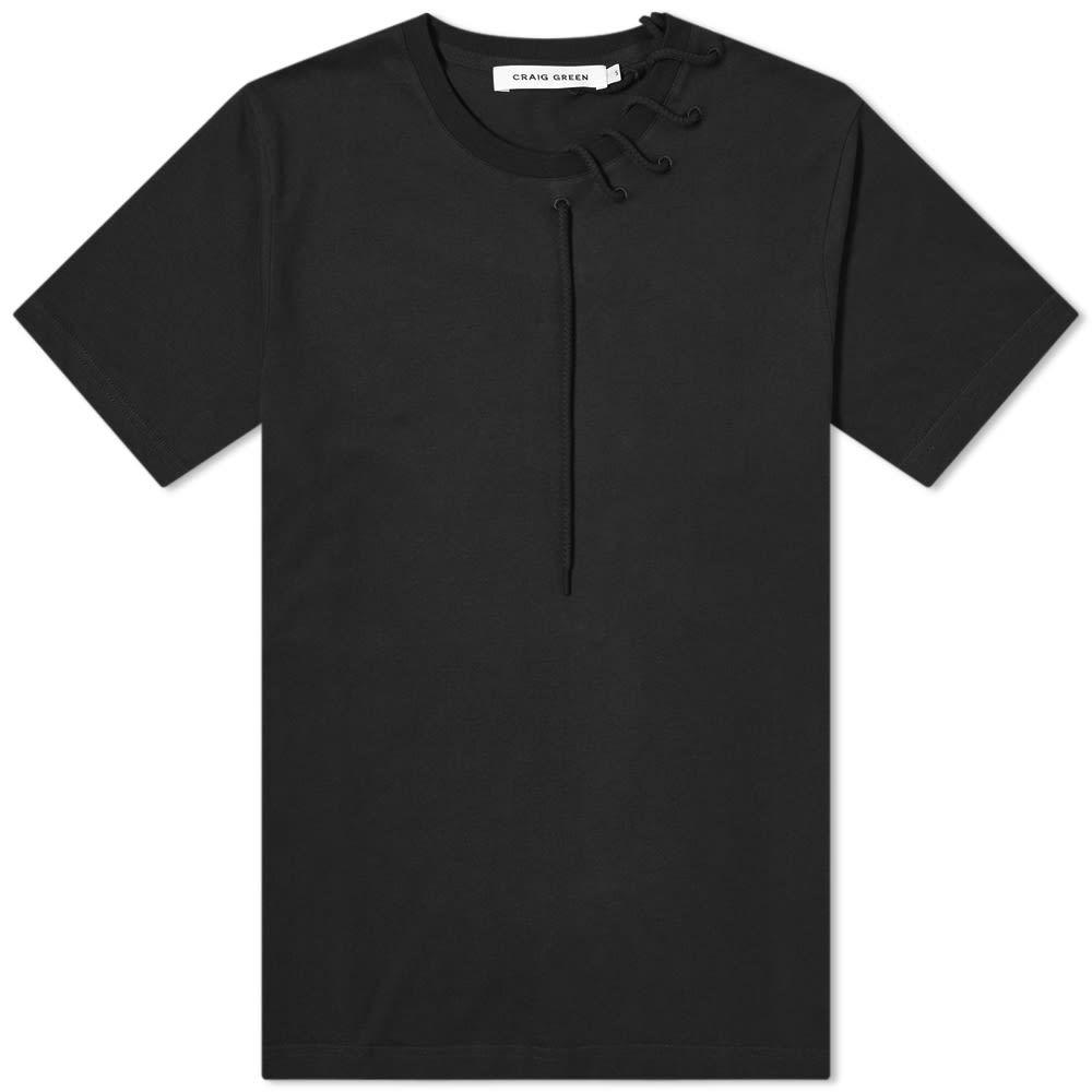 クレイググリーン Craig Green メンズ Tシャツ トップス【Laced Tee】Black