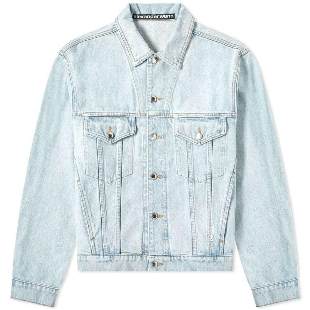 アレキサンダー ワン Alexander Wang メンズ ジャケット Gジャン アウター【bleach wash denim jacket】Indigo