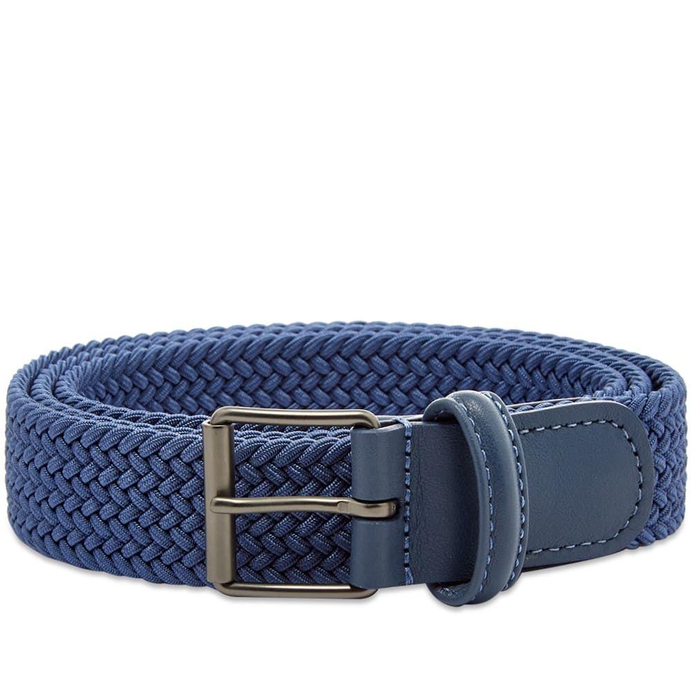 アンダーソンズ Andersons メンズ ベルト 【anderson's slim woven textile belt】RAF Blue