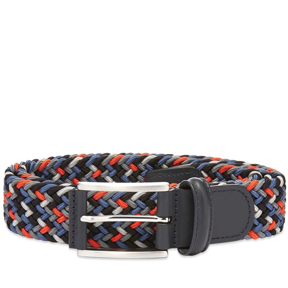アンダーソンズ Andersons メンズ ベルト 【anderson's woven textile belt】Blue/Grey/Orange