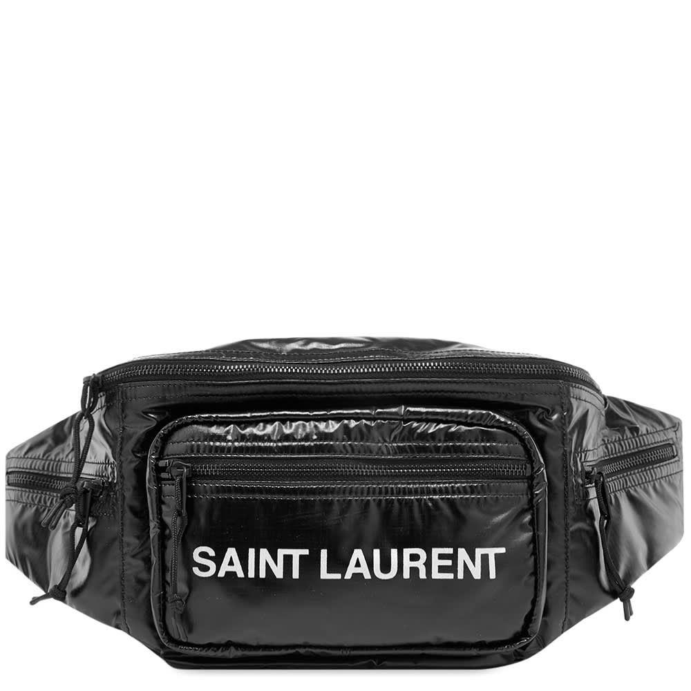 イヴ サンローラン Saint Laurent メンズ ボディバッグ・ウエストポーチ バッグ【ripstop waist bag】Black/White