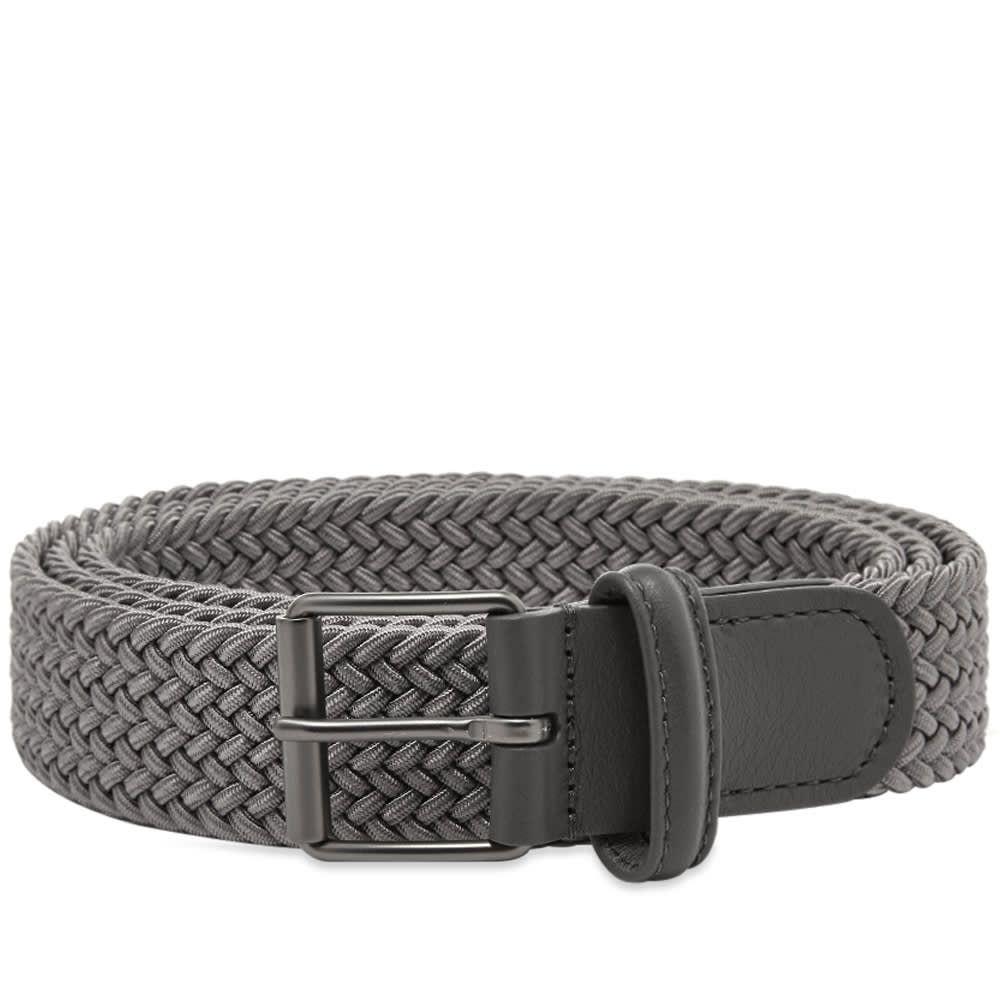 アンダーソンズ Andersons メンズ ベルト 【anderson's slim woven textile belt】Grey