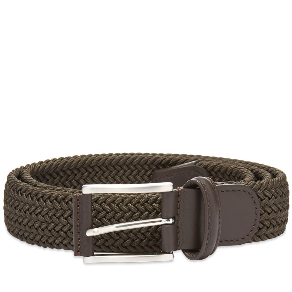 アンダーソンズ Andersons メンズ ベルト 【anderson's woven textile belt】Olive
