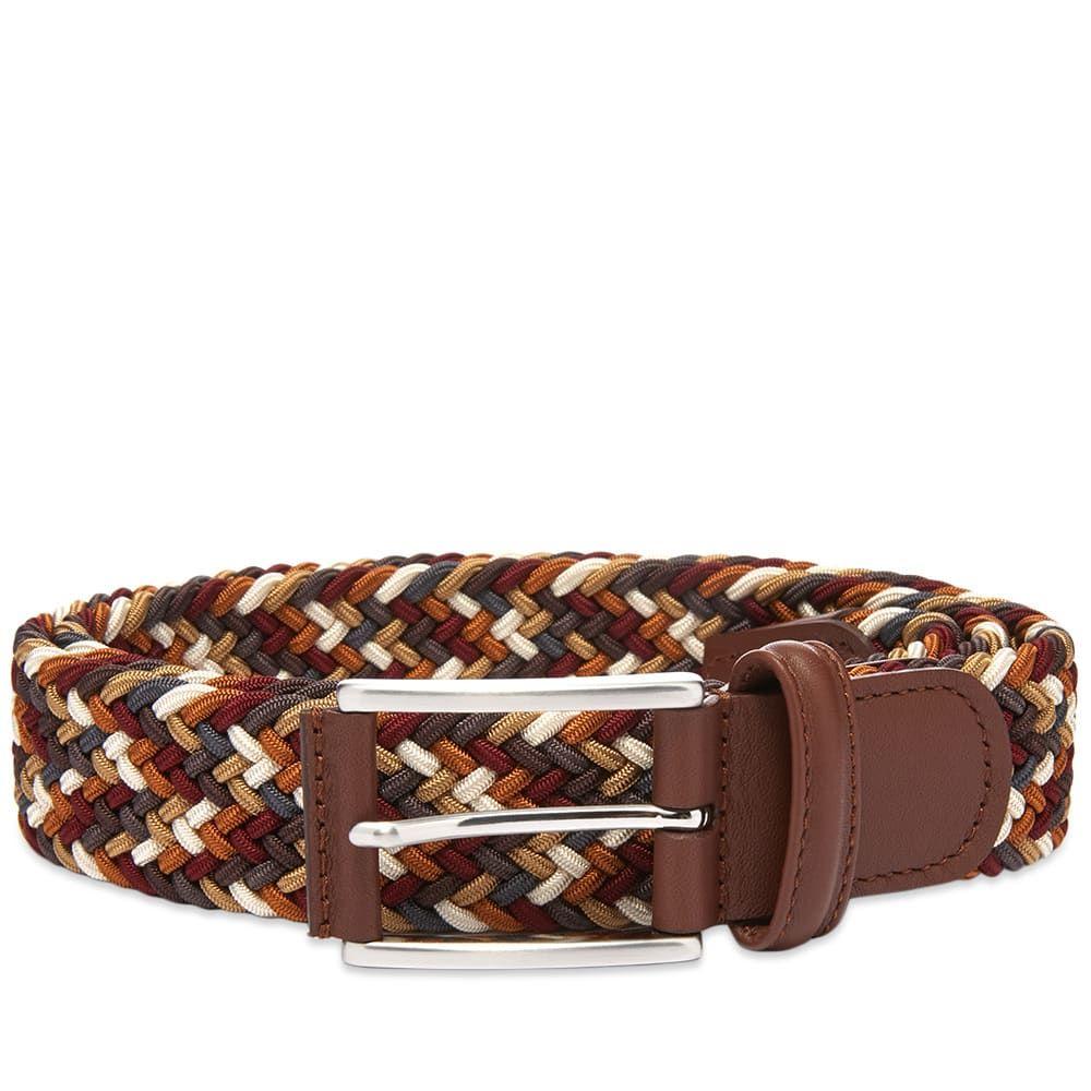 アンダーソンズ Andersons メンズ ベルト 【anderson's woven textile belt】Burgundy/Grey/Tan/Cream