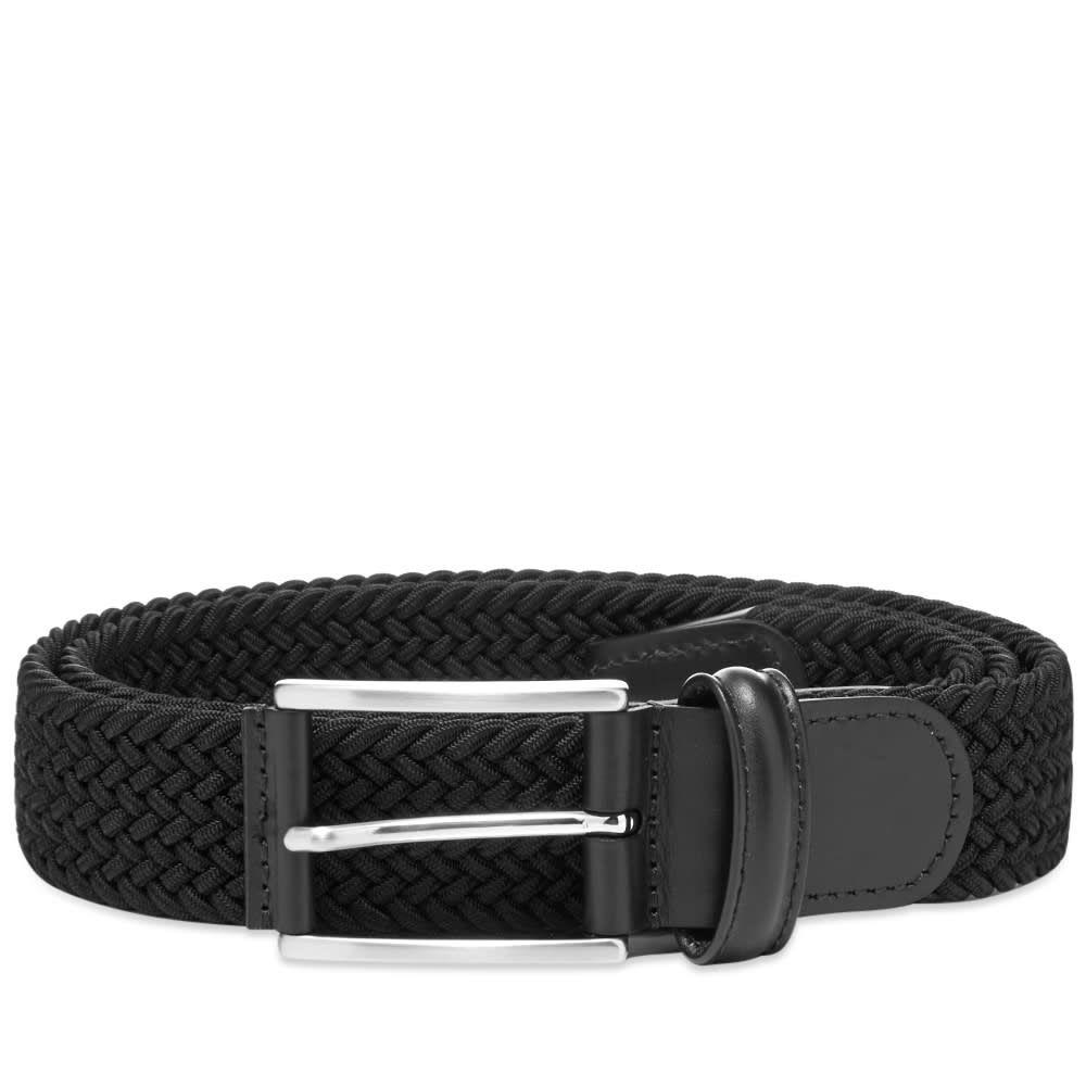 アンダーソンズ Andersons メンズ ベルト 【anderson's woven textile belt】Black/Black