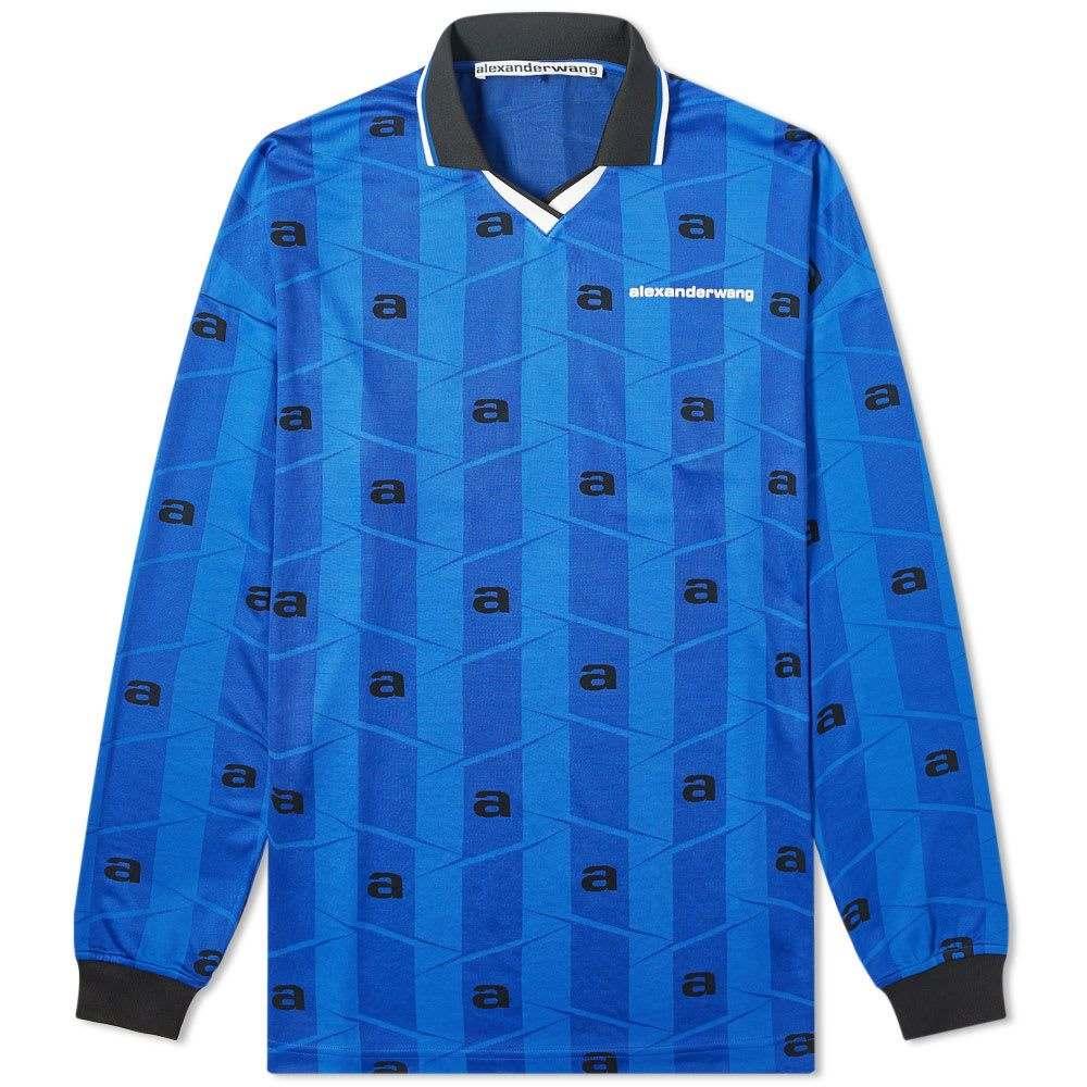 アレキサンダー ワン Alexander Wang メンズ 長袖Tシャツ トップス【long sleeve soccer jersey】Blue
