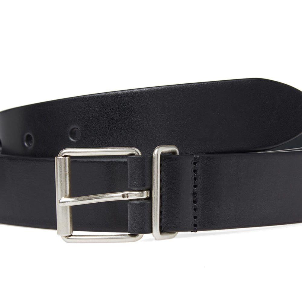 アンダーソンズ Andersons メンズ ベルトanderson's slim leather belt BlackPwZiuklTOX