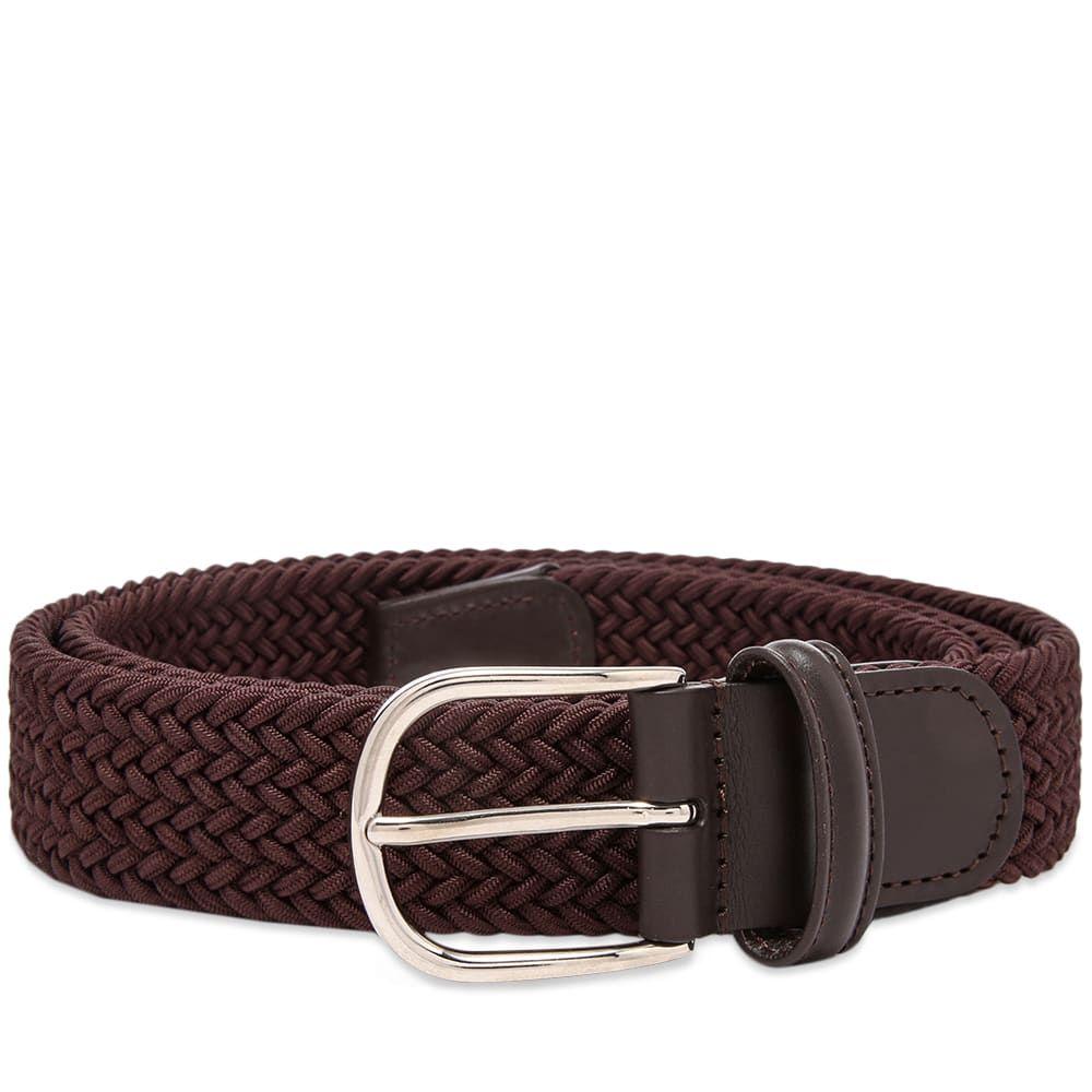 アンダーソンズ Andersons メンズ ベルト 【anderson's woven textile belt】Dark Brown