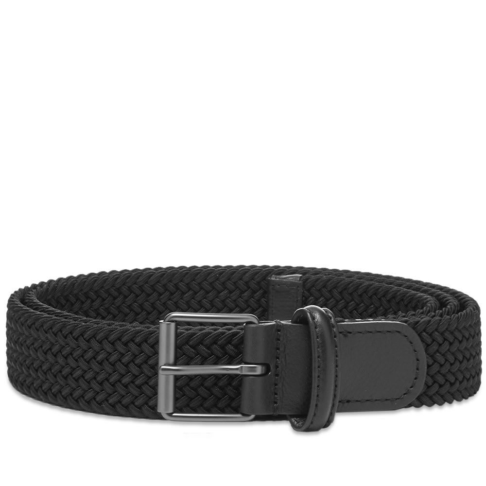 アンダーソンズ Andersons メンズ ベルト 【anderson's slim woven textile belt】Black