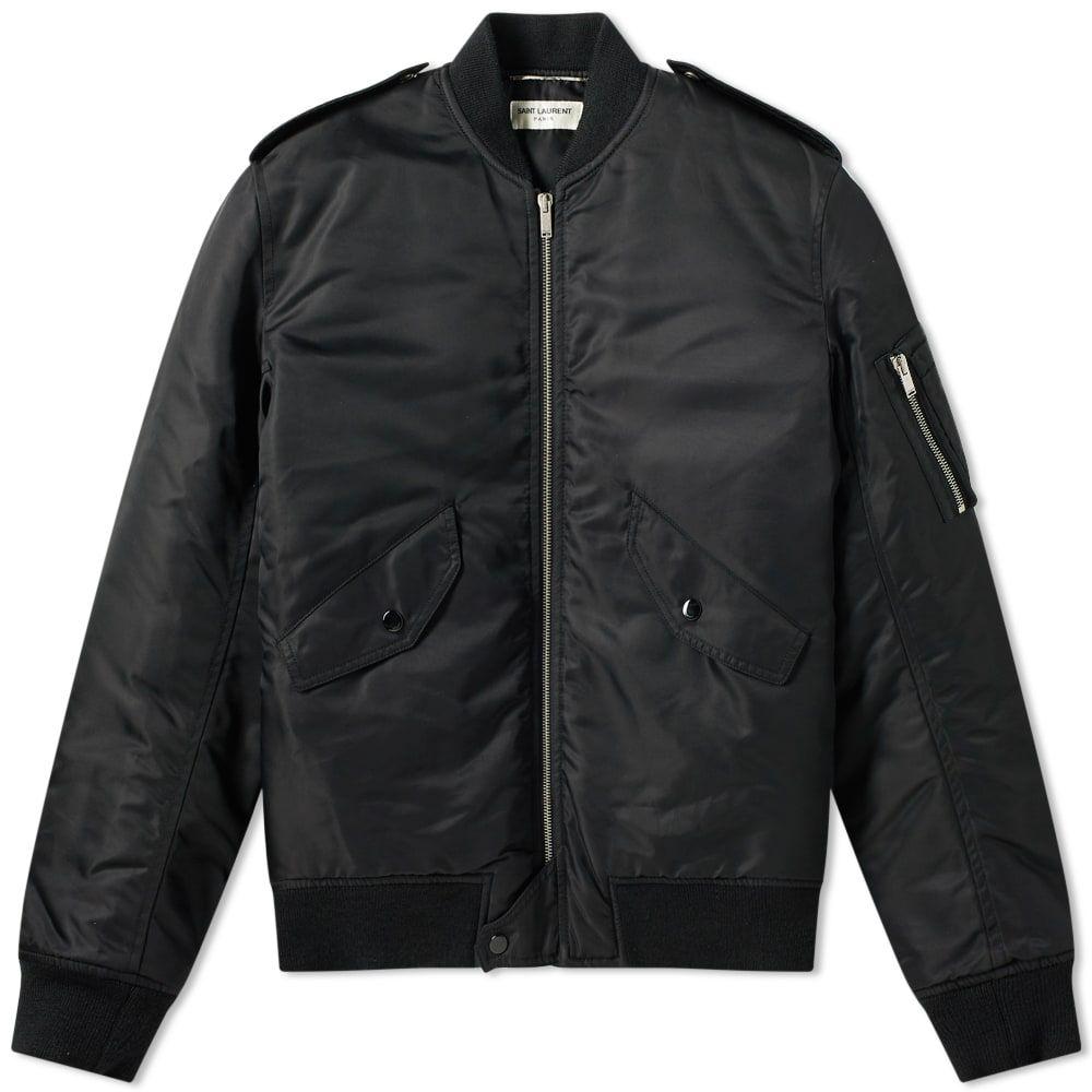 イヴ サンローラン Saint Laurent メンズ ブルゾン アウター【classic ma-1 jacket】Black