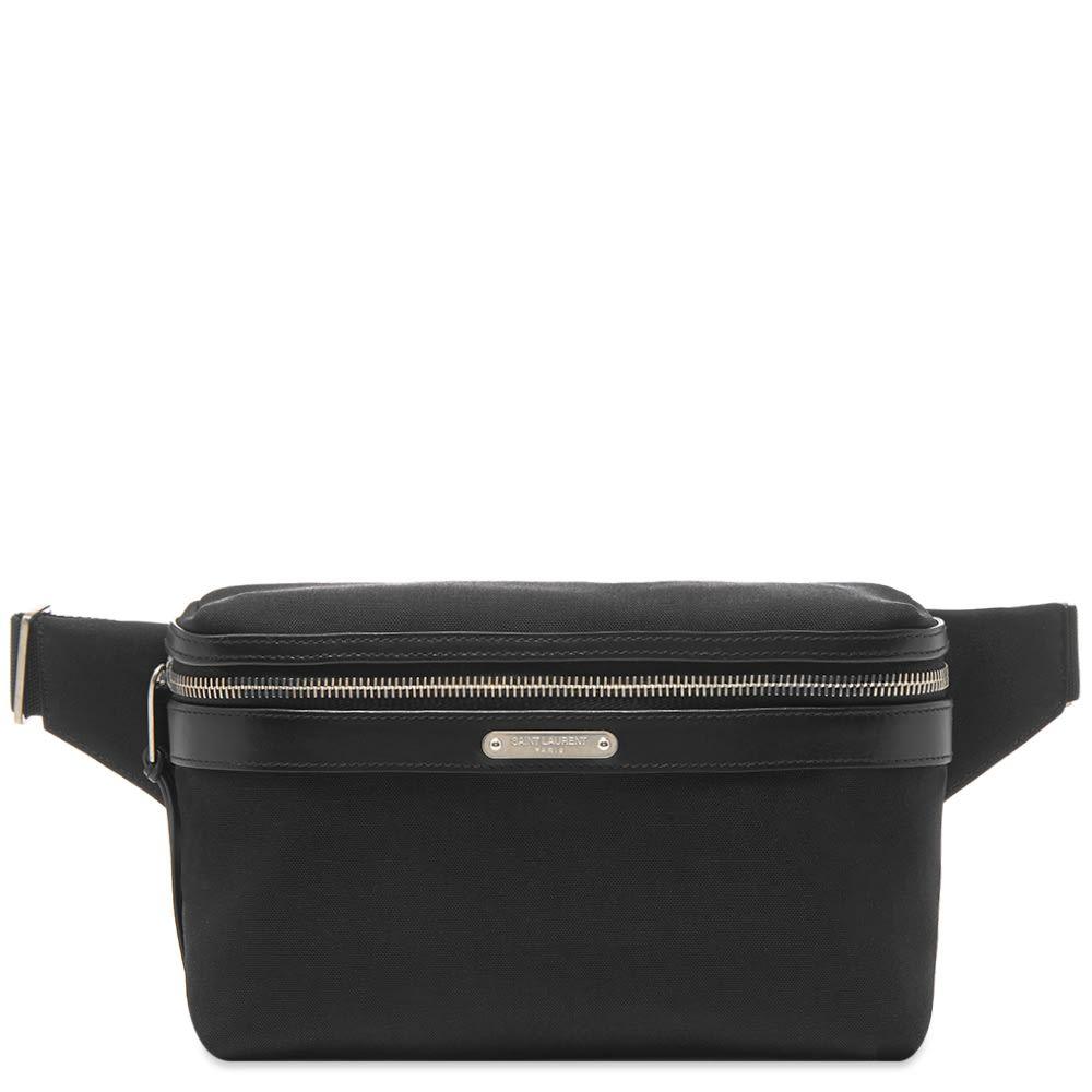 イヴ サンローラン Saint Laurent メンズ ボディバッグ・ウエストポーチ バッグ【canvas waist bag】Black