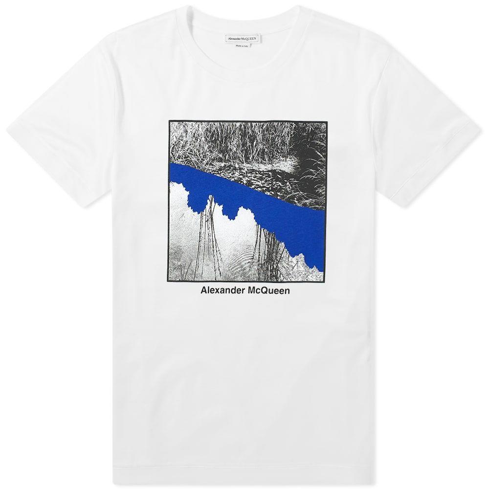 アレキサンダー マックイーン Alexander McQueen メンズ Tシャツ トップス【Photo Tee】White Mix
