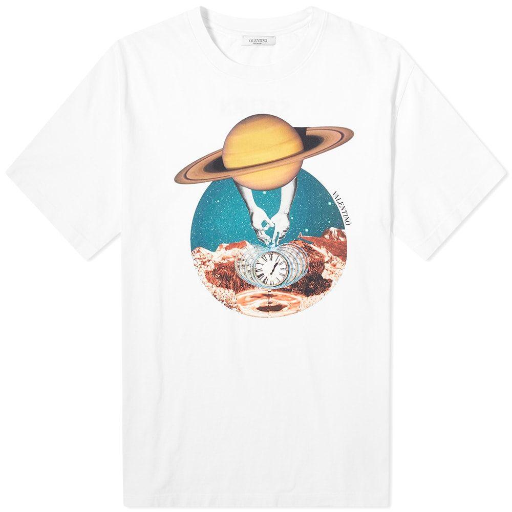 ヴァレンティノ Valentino メンズ Tシャツ トップス【Saturn Print Tee】White