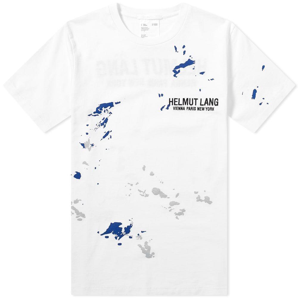 ヘルムート ラング Helmut Lang メンズ Tシャツ ロゴTシャツ トップス【Painter Logo Tee】White/Azurite