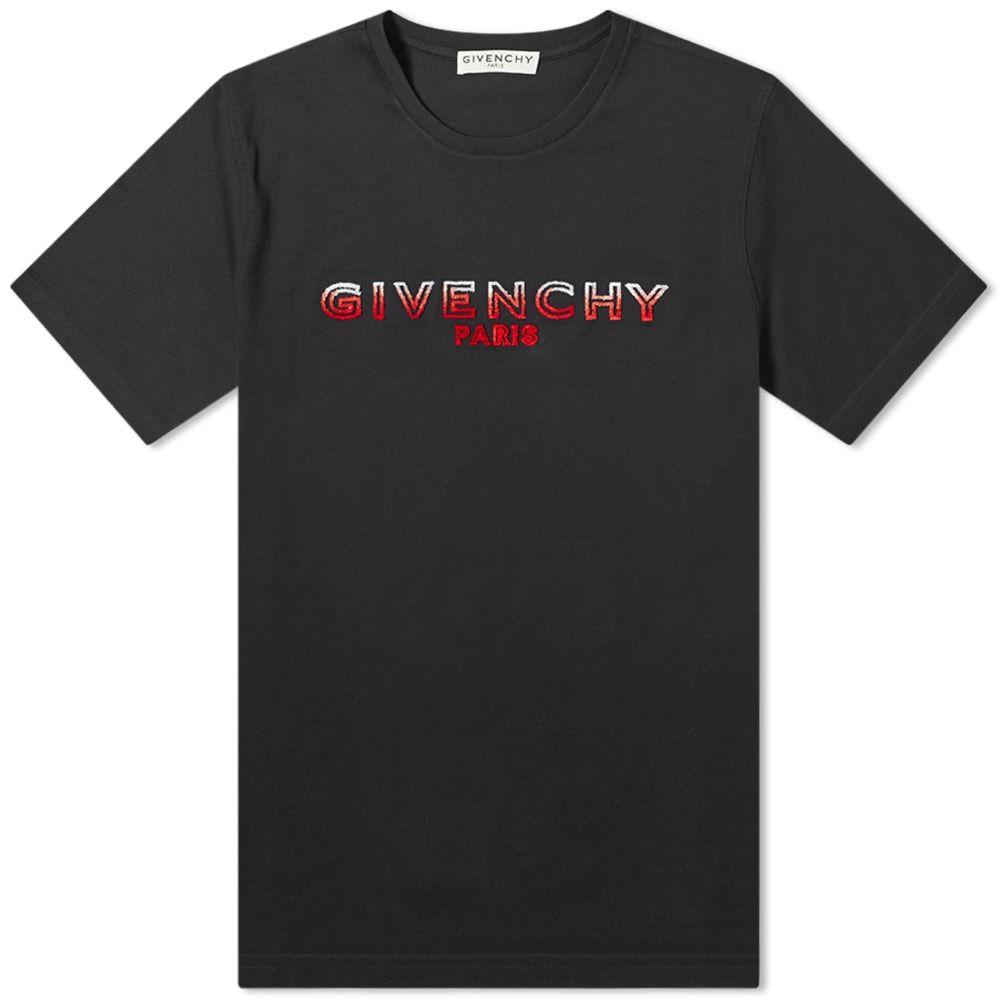 ジバンシー Givenchy メンズ Tシャツ ロゴTシャツ トップス【Tufting Logo Tee】Black