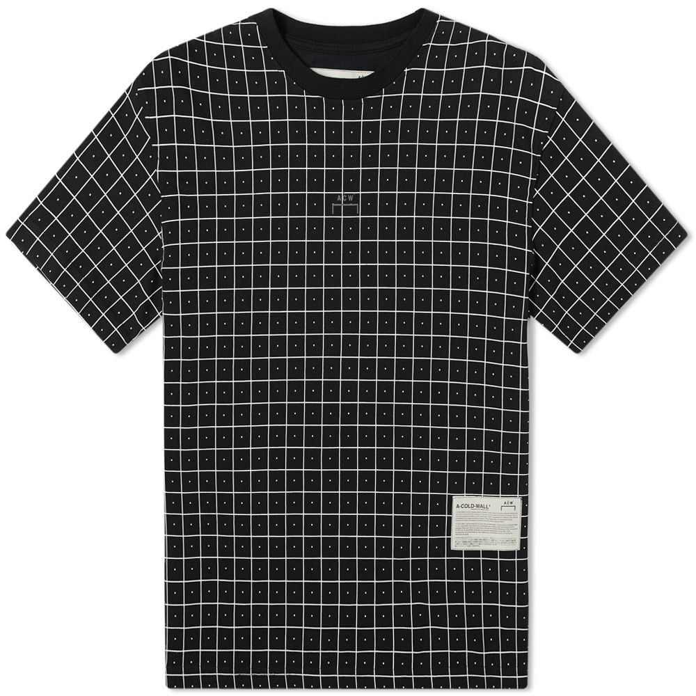 アコールドウォール A-COLD-WALL* メンズ Tシャツ トップス【Grid Tee】Black
