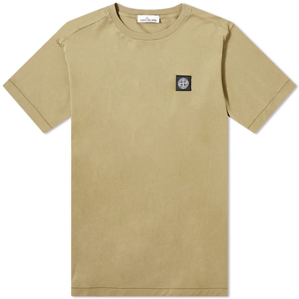 ストーンアイランド Stone Island メンズ Tシャツ ロゴTシャツ トップス【Garment Dyed Patch Logo Tee】Bark