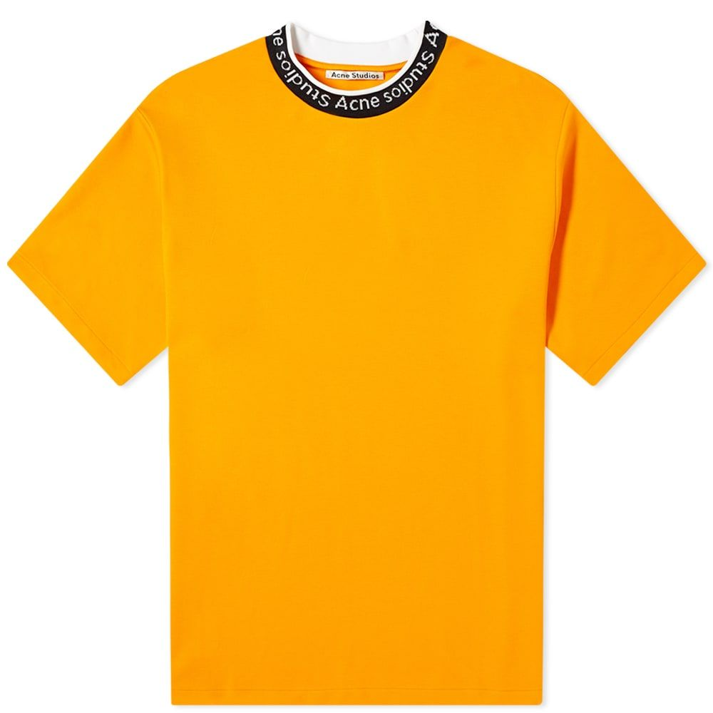 アクネ ストゥディオズ Acne Studios メンズ Tシャツ ロゴTシャツ トップス【Extorr Logo Tee】Carrot Orange