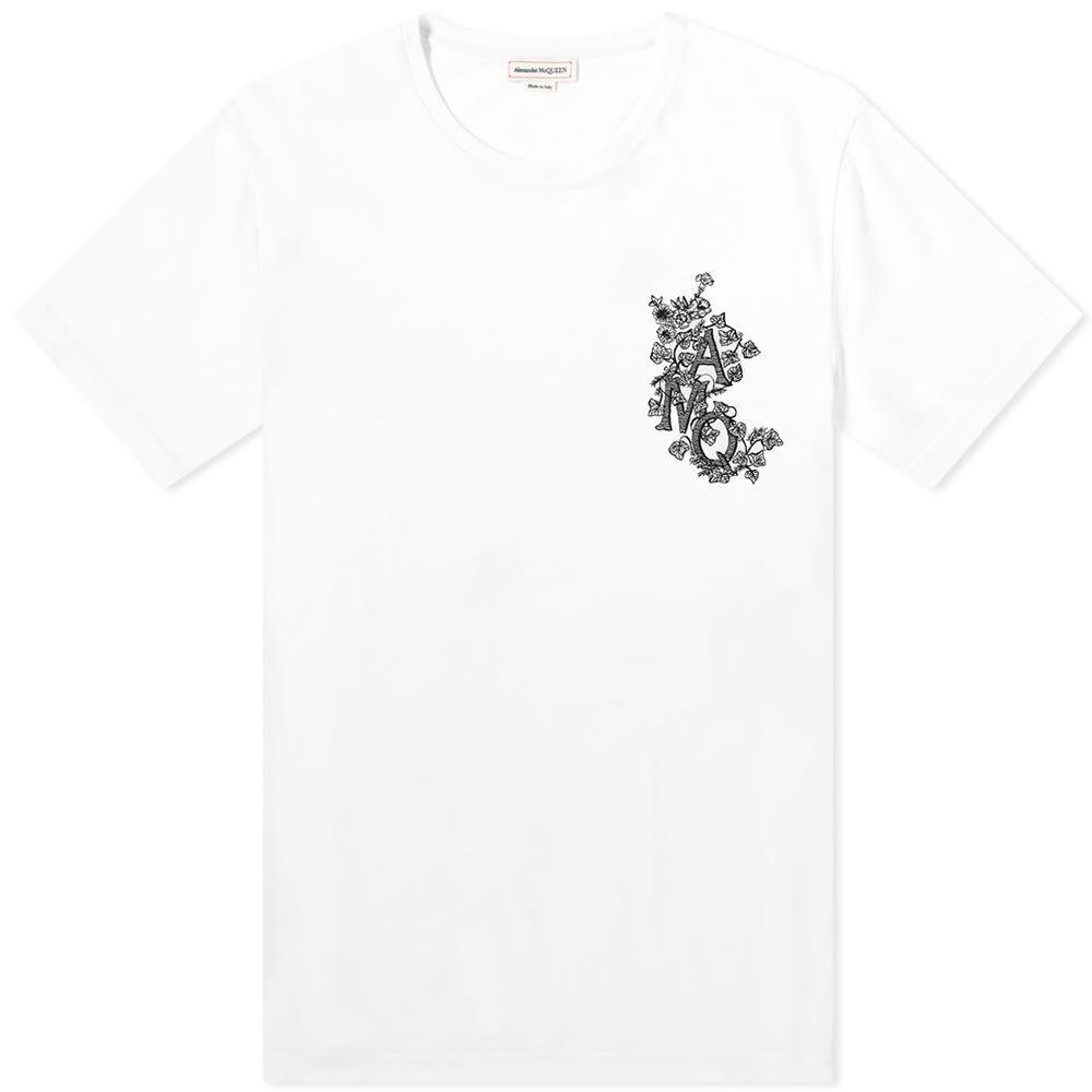 アレキサンダー マックイーン Alexander McQueen メンズ Tシャツ ロゴTシャツ トップス【Embroidered AMQ Logo Tee】White