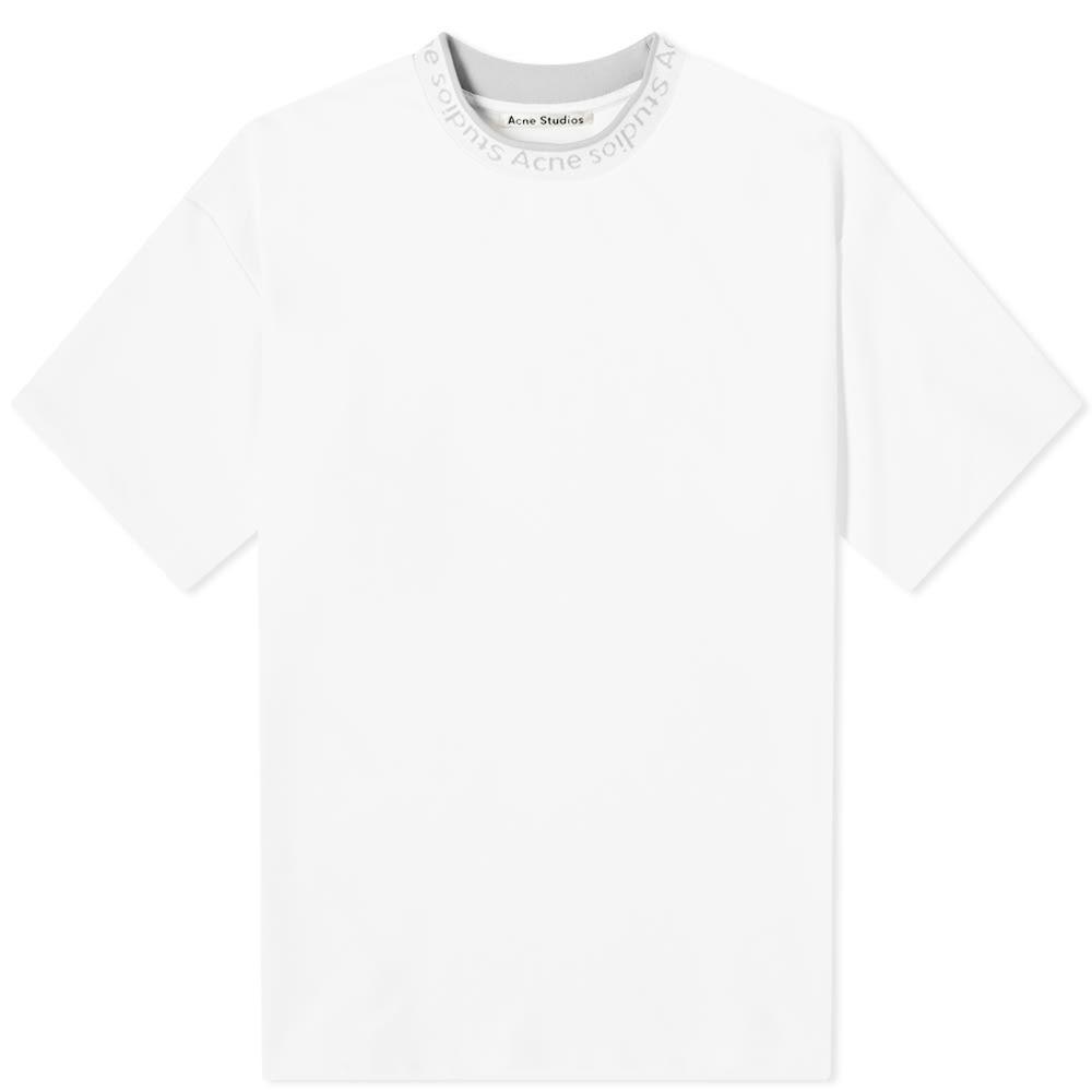 アクネ ストゥディオズ Acne Studios メンズ Tシャツ ロゴTシャツ トップス【Extorr Logo Tee】Optic White