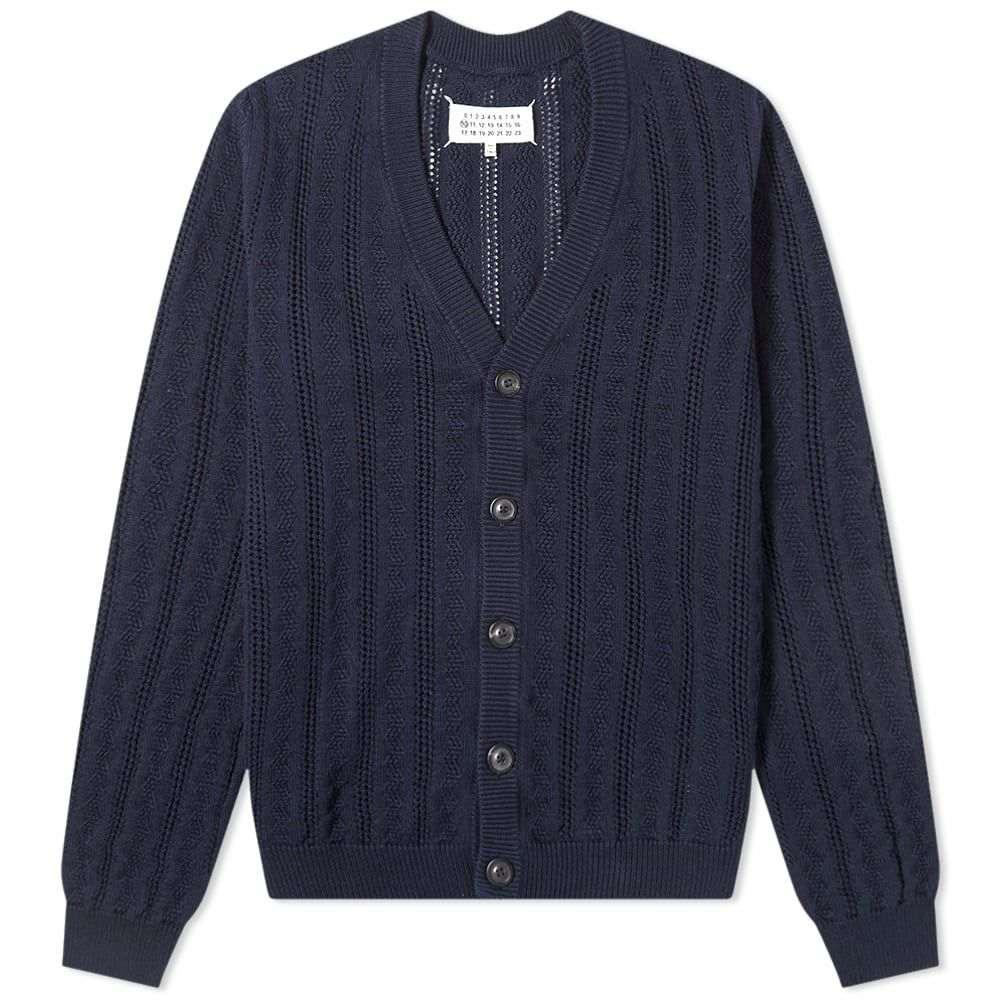 メゾン マルジェラ Maison Margiela メンズ カーディガン トップス【14 Lace Stitch Cardigan】Navy