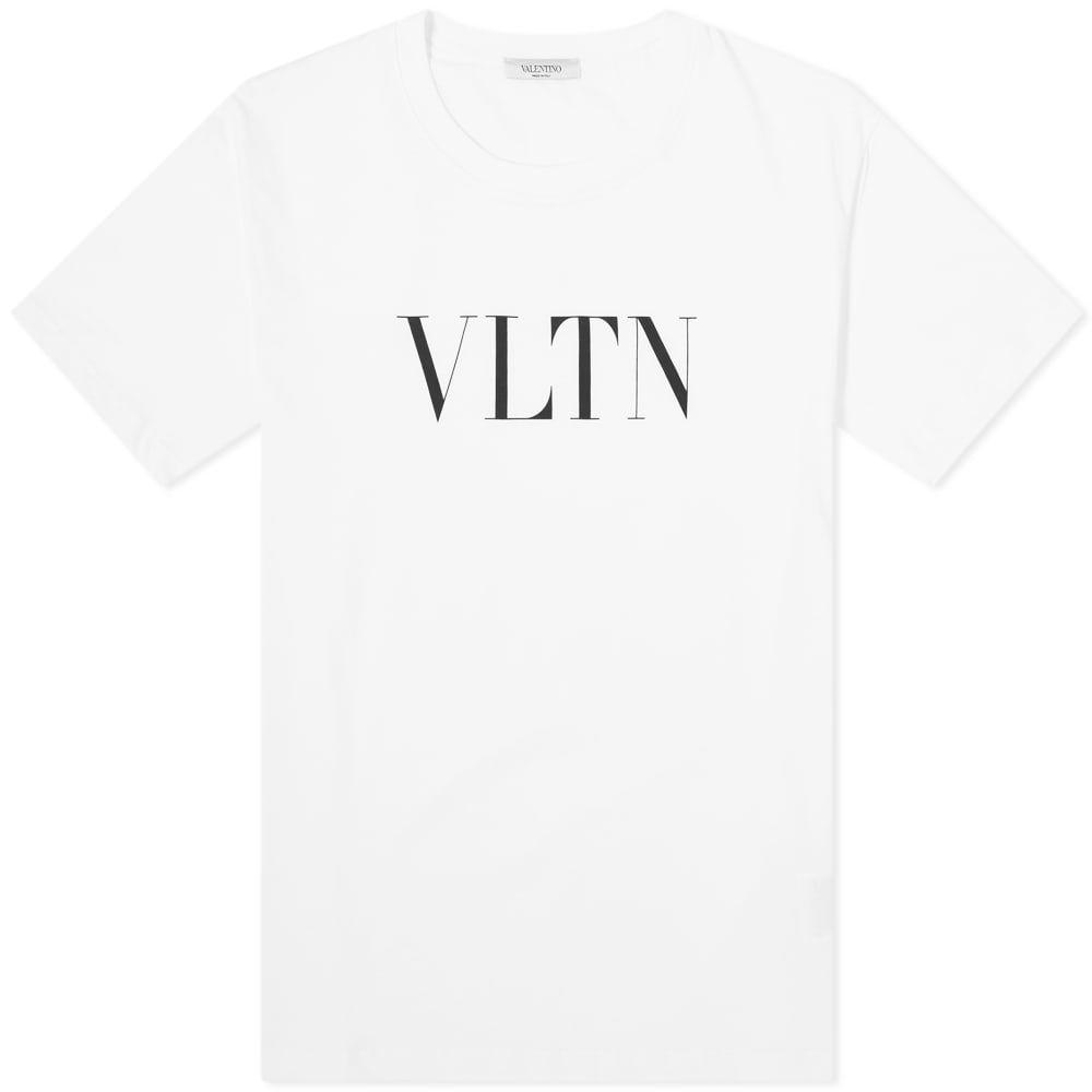 ヴァレンティノ Valentino メンズ Tシャツ ロゴTシャツ トップス【Logo Tee】White/Black