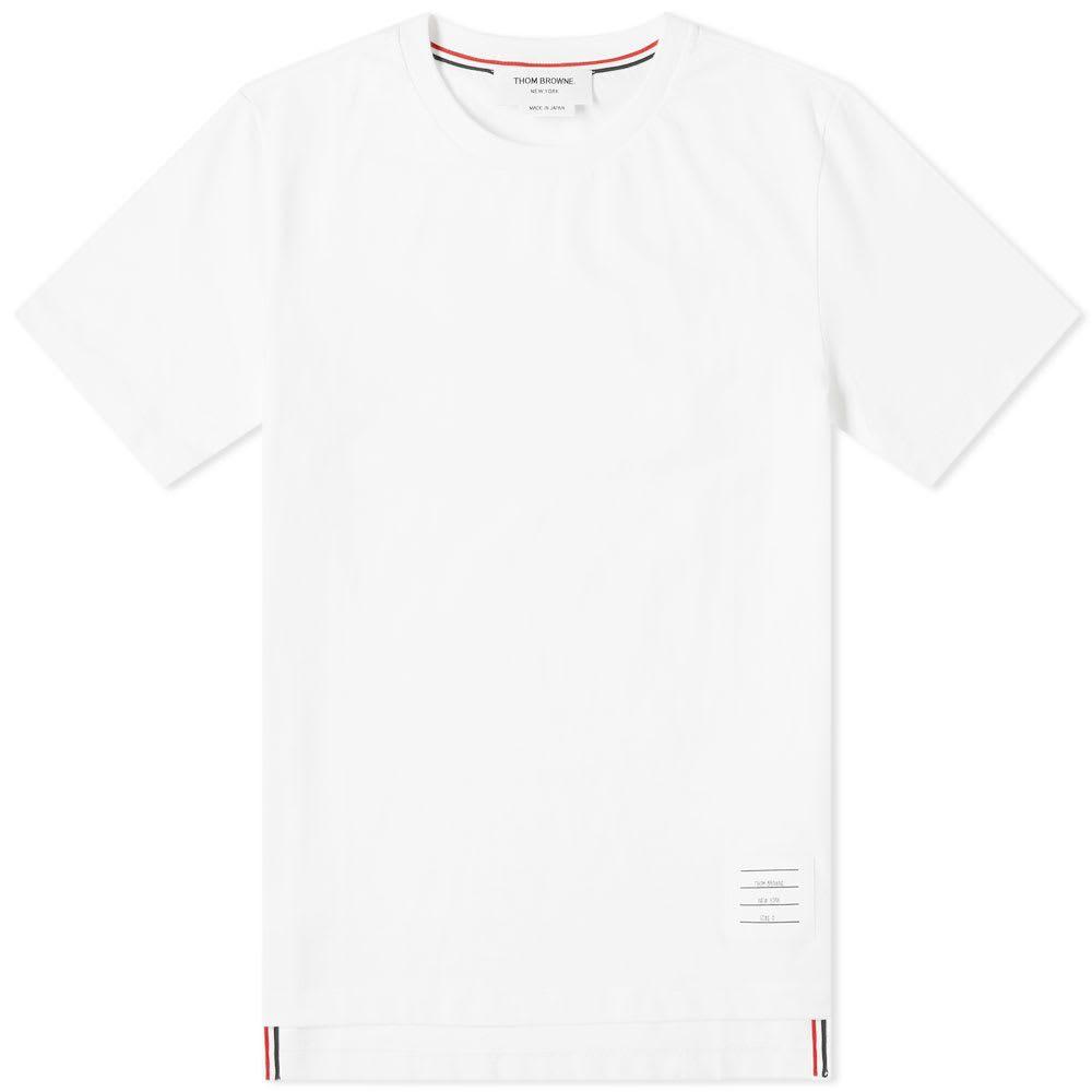 トム ブラウン Thom Browne メンズ Tシャツ トップス【Side Split Classic Tee】White