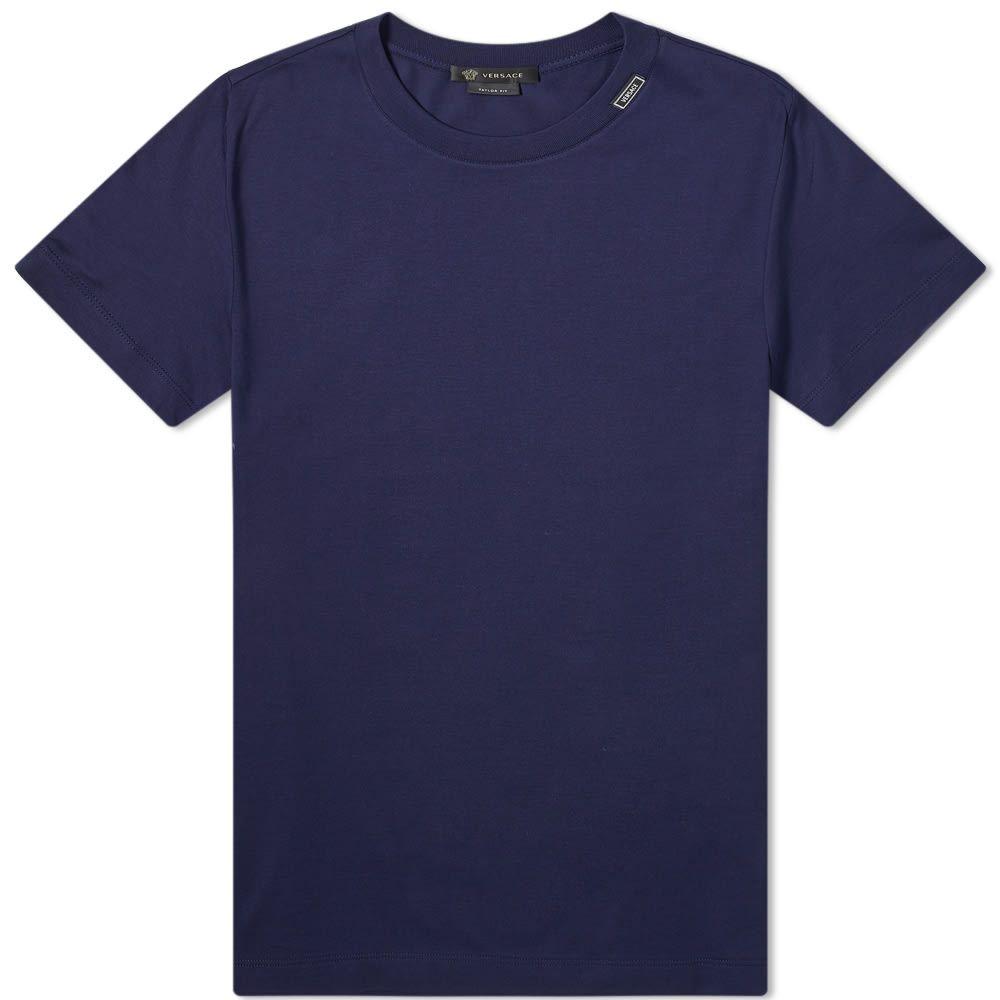 ヴェルサーチ Versace メンズ Tシャツ ロゴTシャツ トップス【Tab Logo Tee】Blue