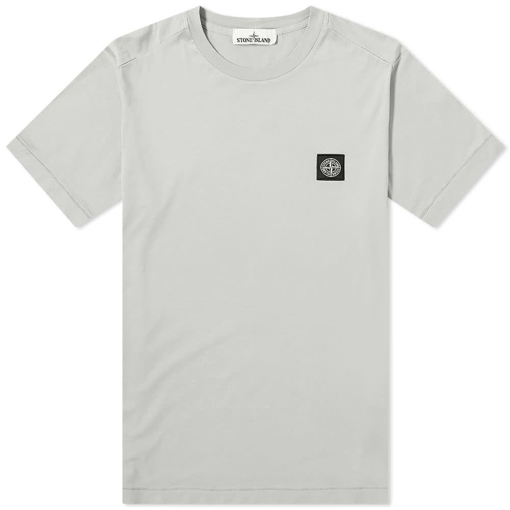 ストーンアイランド Stone Island メンズ Tシャツ ロゴTシャツ トップス【Garment Dyed Patch Logo Tee】Powder