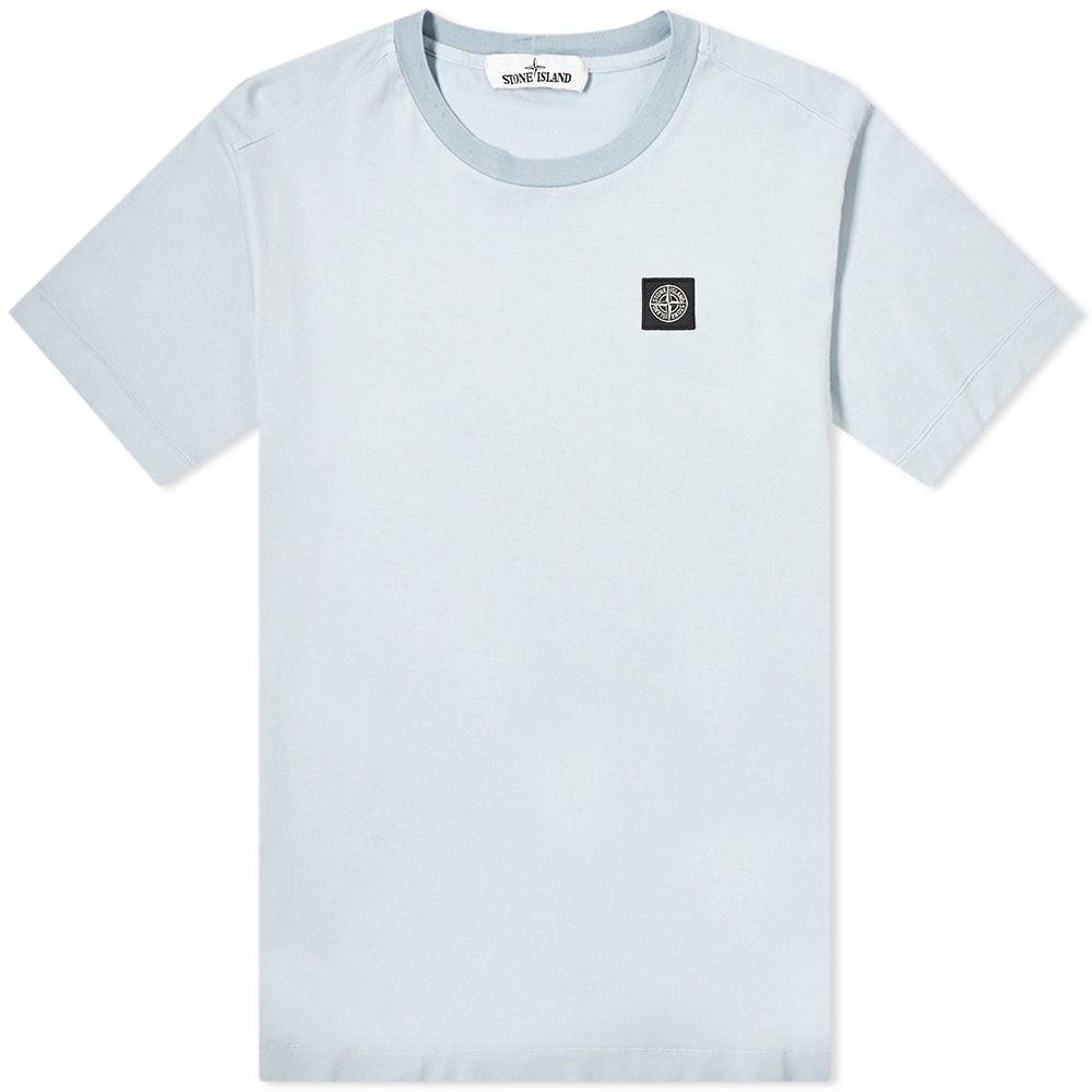 ストーンアイランド Stone Island メンズ Tシャツ ロゴTシャツ トップス【Garment Dyed Patch Logo Tee】Sky Blue