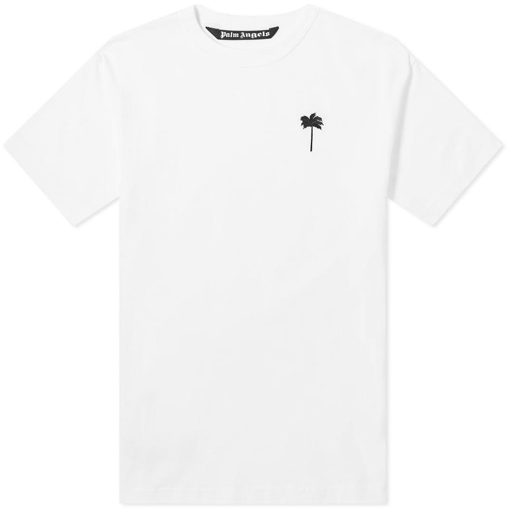 パーム エンジェルス Palm Angels メンズ Tシャツ ロゴTシャツ トップス【Palm by Palm Logo Tee】White/Black