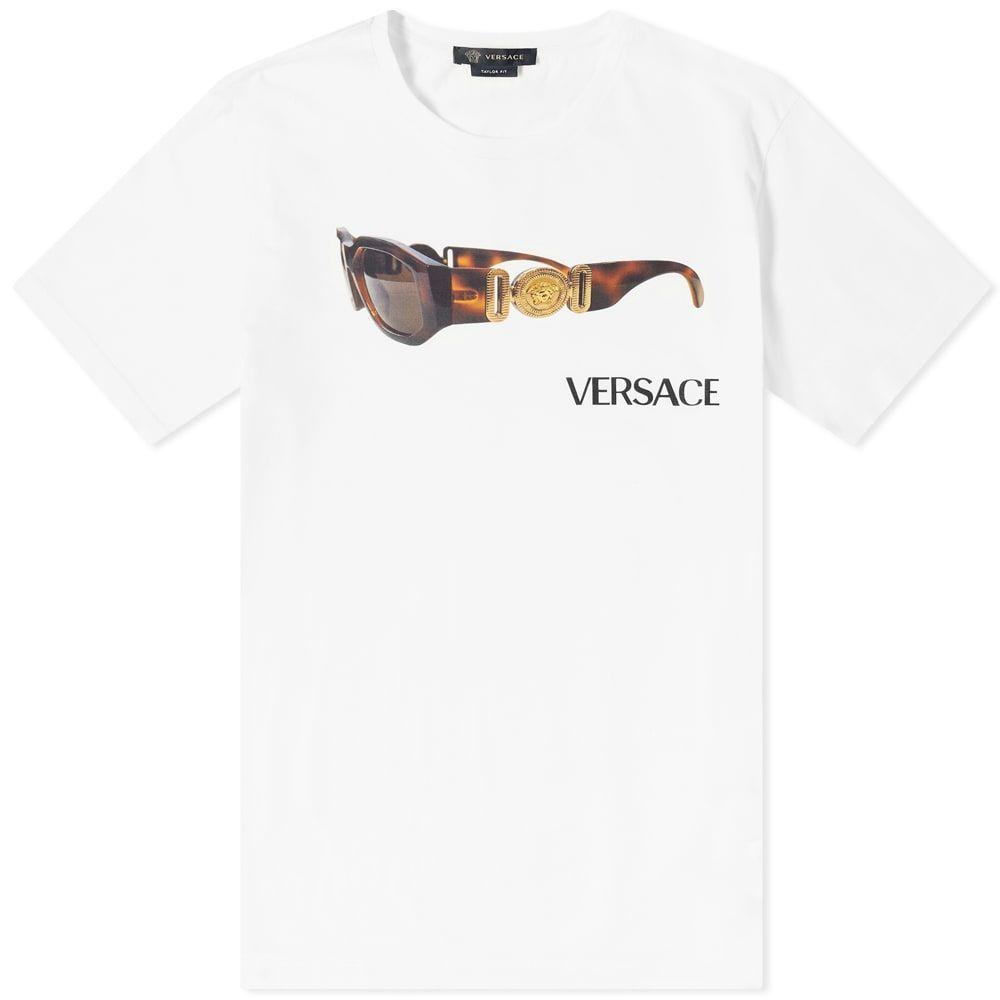 ヴェルサーチ Versace メンズ Tシャツ トップス【Sunglasses Tee】White