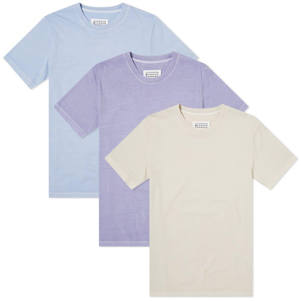メゾン マルジェラ Maison Margiela メンズ Tシャツ 3点セット トップス【10 Vaccum Tee 3 Pack】Pervinca/Orchid/Ecru