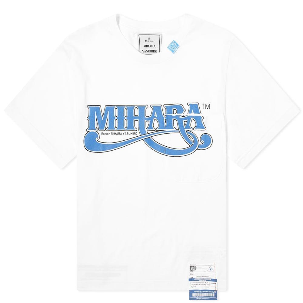 ミハラ ヤスヒロ Maison MIHARA YASUHIRO メンズ Tシャツ ポケット ロゴTシャツ トップス【Logo Pocket Tee】White