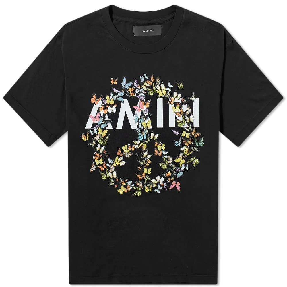 アミリ AMIRI メンズ Tシャツ トップス【Peace Butterfly Tee】Black