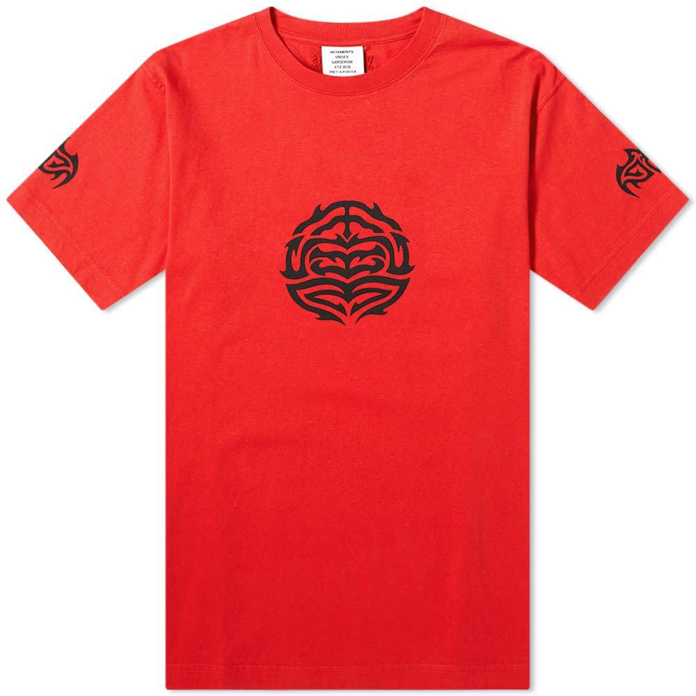 ヴェトモン VETEMENTS メンズ Tシャツ トップス【Good Fortune Tee】Red