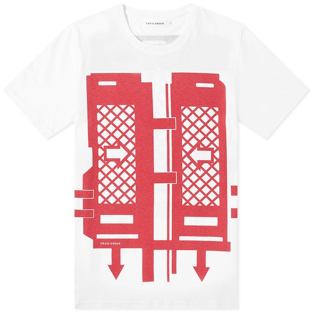 クレイググリーン Craig Green メンズ Tシャツ トップス【Flatpack Tee】Dark Red